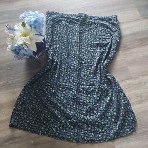 Gorgeous Kathie Lee Floral Print Plus Size Skirt